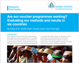Are our voucher programmes