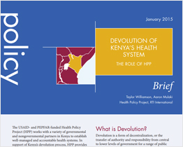 Devolution of Kenya