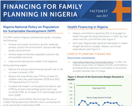Factsheet: Financing for Family Planning in Nigeria