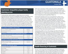 Financing family planning: Guatemala