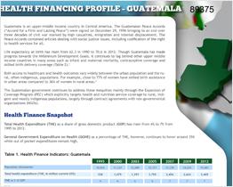 Health Financing Profile