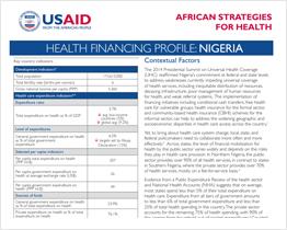 Health Financing Profile: Nigeria