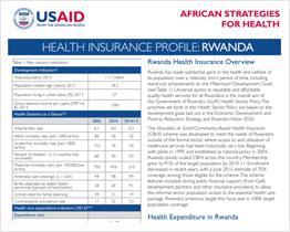 Health Insurance Profile: Rwanda