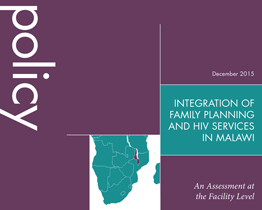 Integration of Family Planning and HIV Services in Malawi
