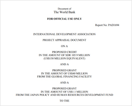 Kenya Project Appraisal Document