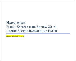 Madagascar Public Expenditure Review