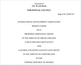 Nigeria Project Appraisal Document (GFF)