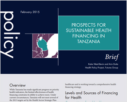 Prospects for Sustainabile Health Financing