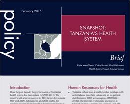 Snapshot: Tanzania's health system