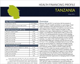 Tanzania Health Financing Profile