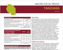 Tanzania Macro-Fiscal Profile