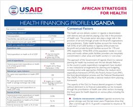 Uganda Health Financing Profile
